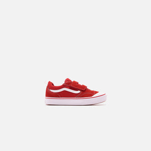 Vans Kids ComfyCush New Skool V - Racing Red / True White