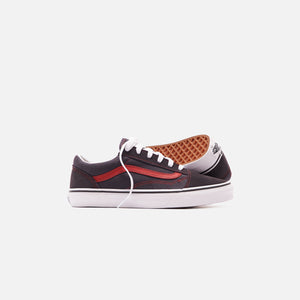 Vans Junior Old Skool Shoes - Asphalt / Red