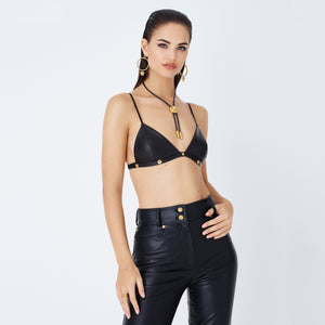 Kith Women x Versace Leather Bra - Black