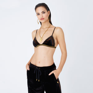 Kith Women x Versace Velour Bra - Black