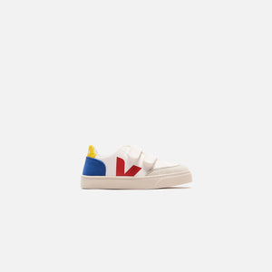 Veja Junior V12 Velcro - White / Blue