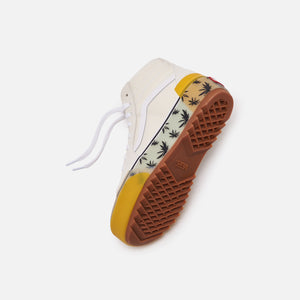 Vans Sk8 High Stacked - Palm Blue / Yellow Image 2