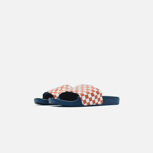 Vans Slide-On Checkerboard - Burnt Brick / Dress Blues