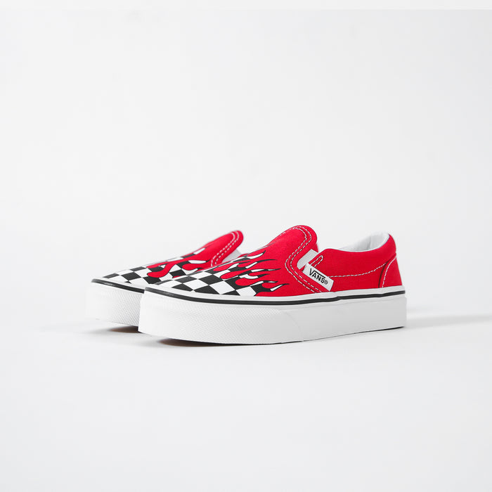 Vans KD Classic Slip-On racing - Red / True white