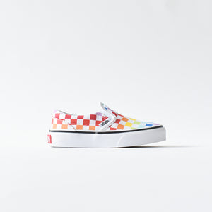 f235d587d03b Vans Kids Slip-On - Rainbow   Checkerboard