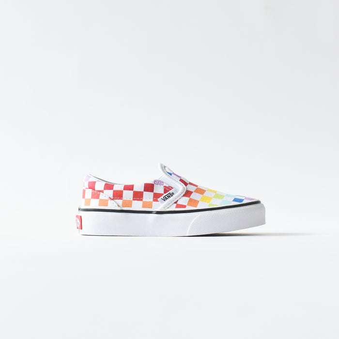 Vans Kids Slip-On - Rainbow / Checkerboard