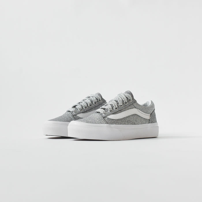 Vans Kids Old Skool - Silver Glitter / White