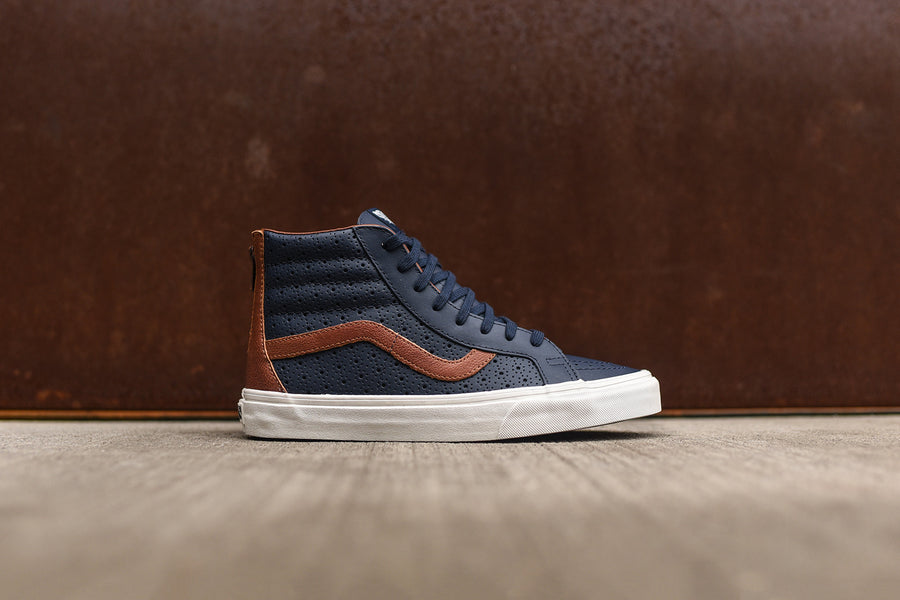 Vans Sk8-Hi Reissue Zip - Navy / Brown