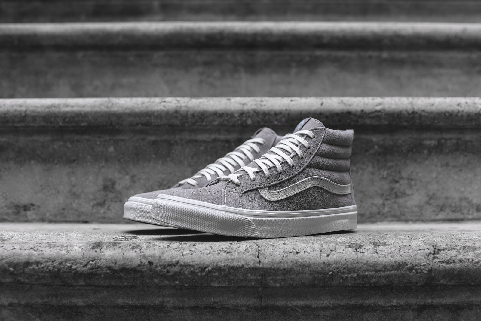 Vans WMNS Sk8Hi Slim Zip Scotchgard - Cool Grey