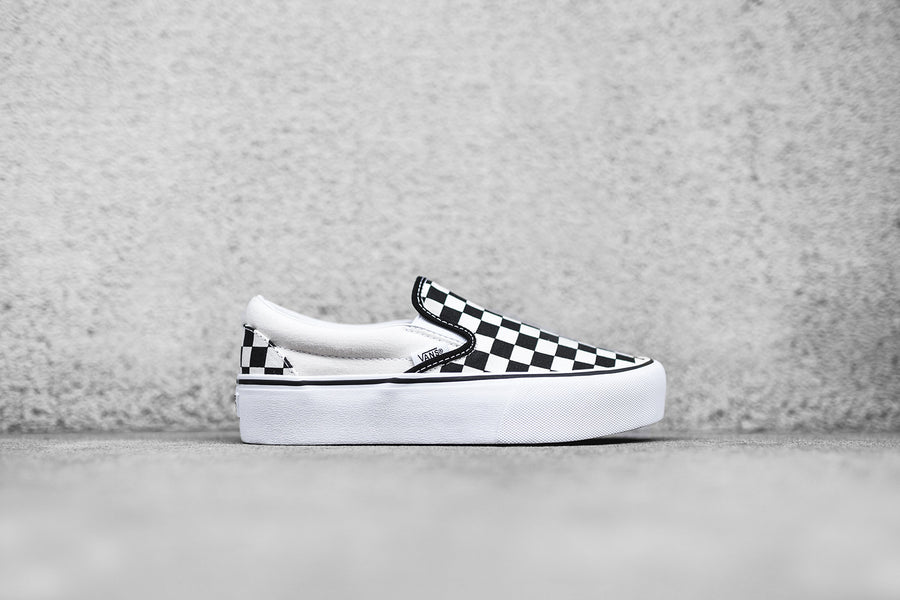 Vans WMNS Classic Slip-On Platform - Checkerboard