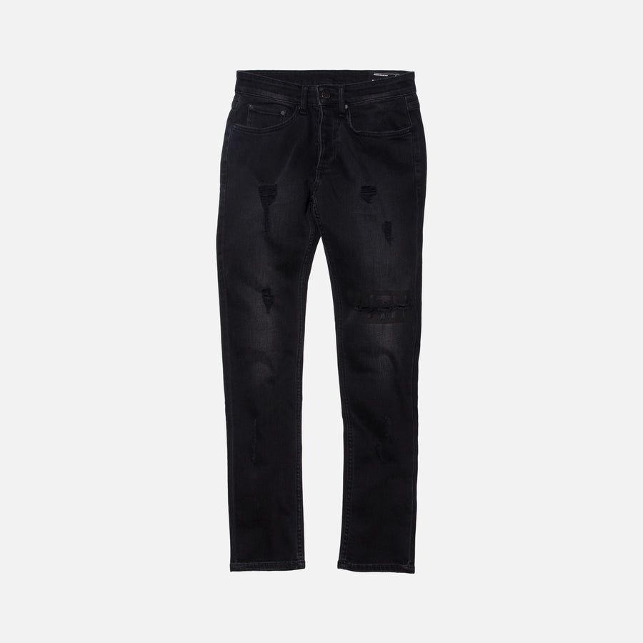 Kith Classics Varick Destroyed Denim - Black