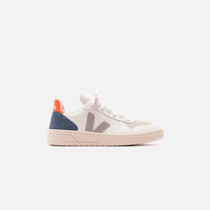 Veja WMNS V-10 - Extra White / Oxford Grey / Orange Fluo