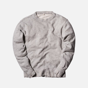 R13 Vintage Distressed Crewneck - Grey