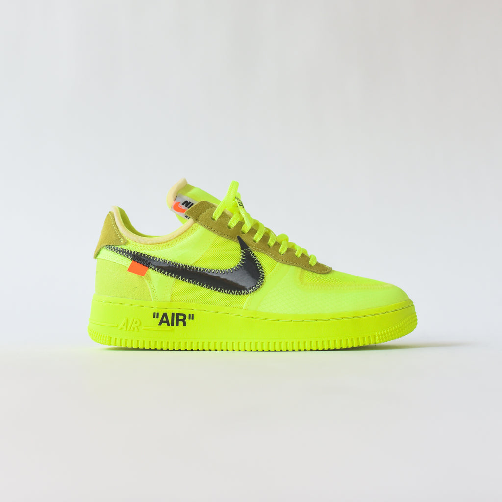 competitive price 284ef 37b2b Nike x Off-White THE 10  Air Force 1 Low - Volt   Hyper Jade   Cone Bl –  Kith
