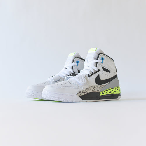 Nike Air Jordan Legacy 312 - White / Black / Volt / Vivid Blue