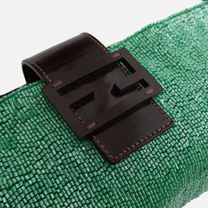 Fendi Beaded Shoulder Bag - Green Image 2