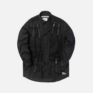 White Mountaineering Military Vest Shirt - Black