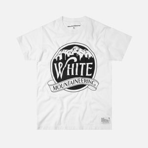 White Mountaineering Printed Tee Mountain Building - White