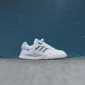 adidas Originals WMNS A.R. Trainer 100 White Tech Olive Real Blue 5.5