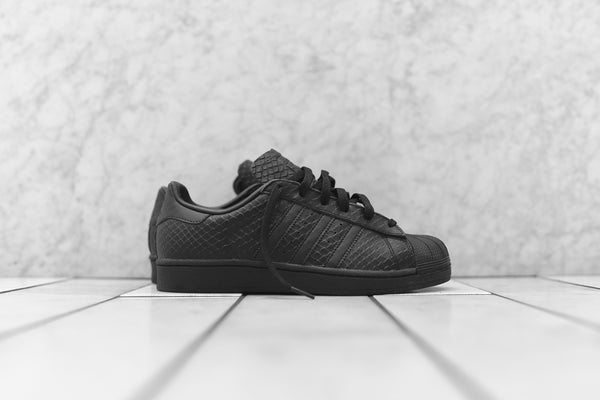 adidas Originals WMNS Superstar Snakeskin - Triple Black