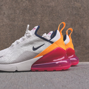 Nike WMNS Air Max 270 Summit White Midnight Navy Laser