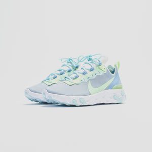Nike WMNS React Element 55 - White / Frosted Spruce / Barely Volt