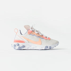 Nike WMNS React Element 55 - Pale Pink / Washed Coral / Oxygen Purple