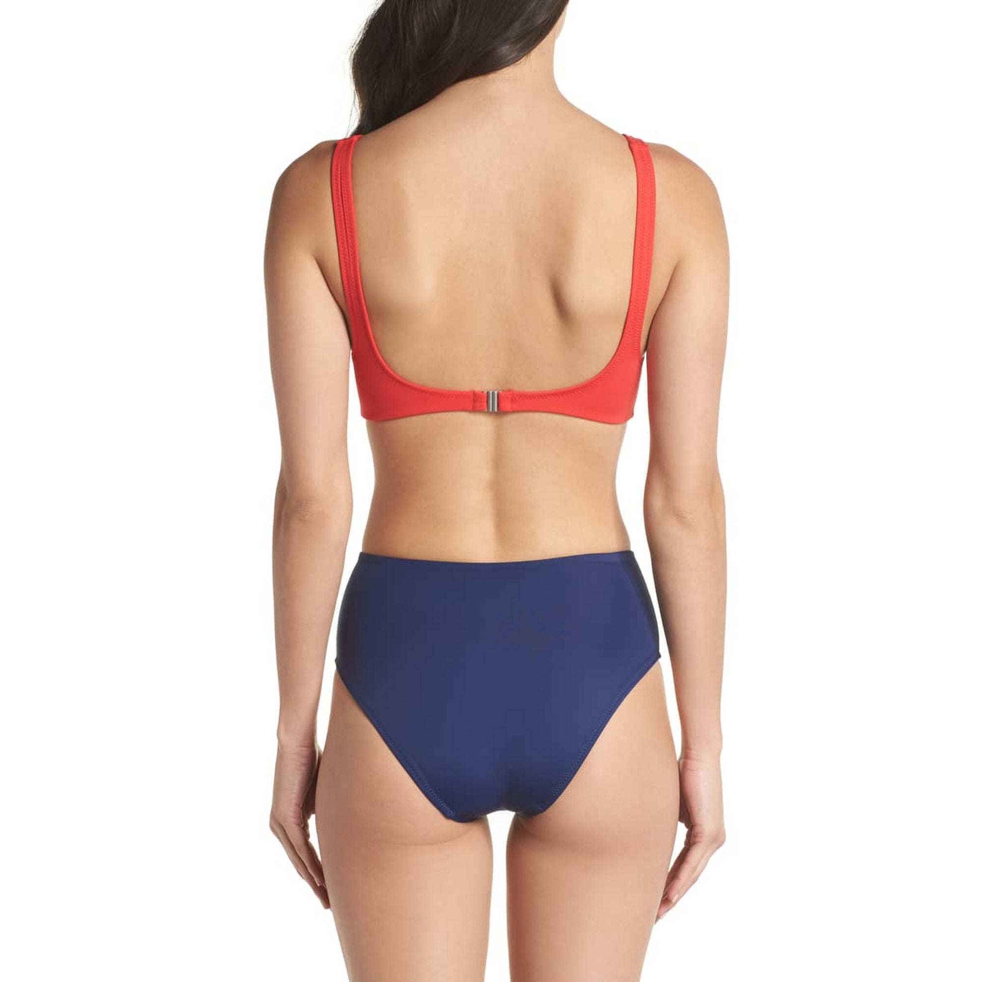 Solid & Striped The Bailey One Peice - Red / Navy