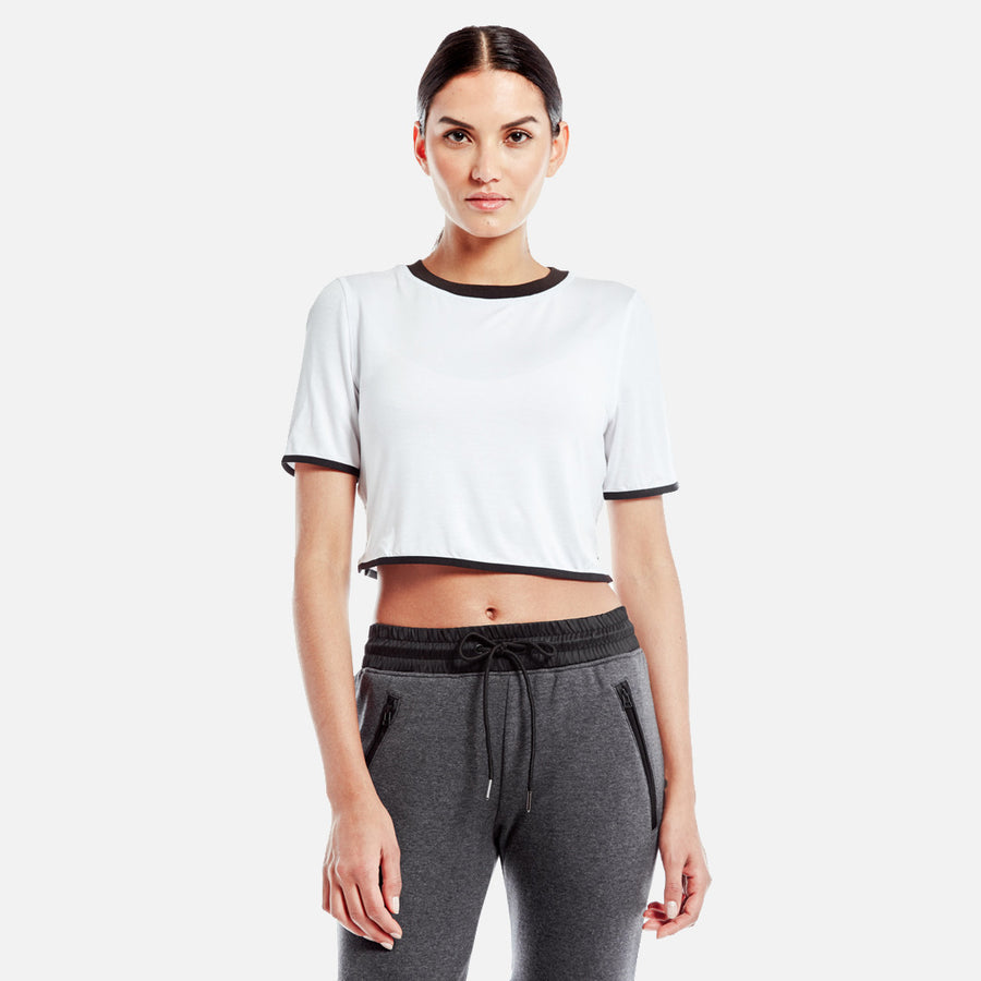 Kith Liv Crop Top - White