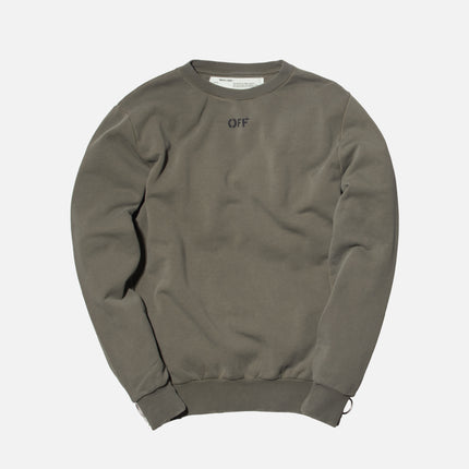 Off-White Washed Crewneck - Green