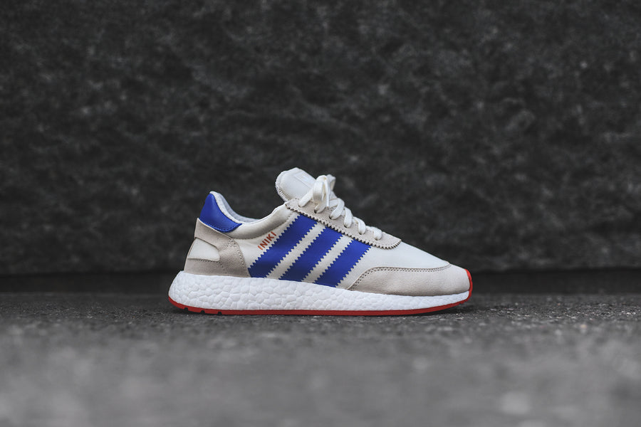 adidas Originals Iniki Runner - Off-White / Blue / Red