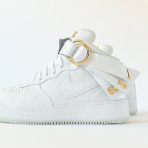 brand new cf3b1 91792 Nike x Victor Cruz Air Force 1 Mid CMFT - White