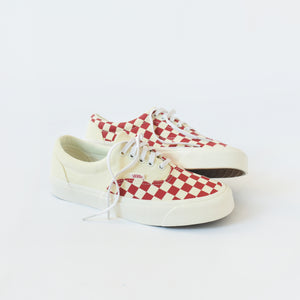 543450127c Vans Era CRFT - Podium   Checkerboard   Racing Red