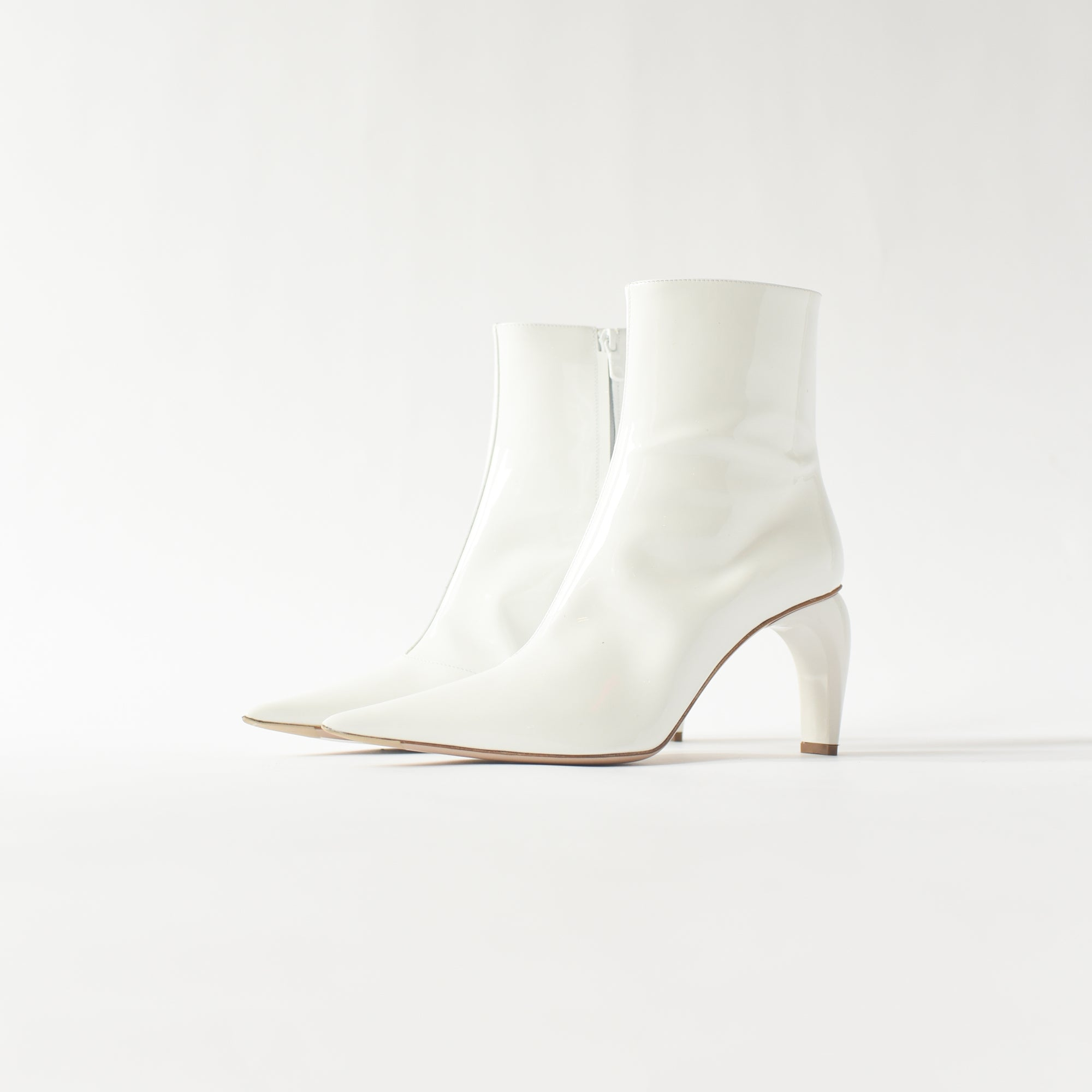 MISBHV Vinyl Ankle Boot - White