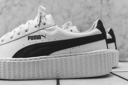 puma creeper white & black
