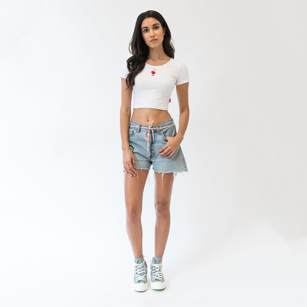 Kith x Coca-Cola Fitted Cropped Tee - White