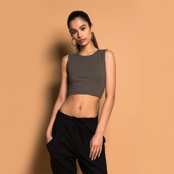 Kith London Cropped Top - Olive
