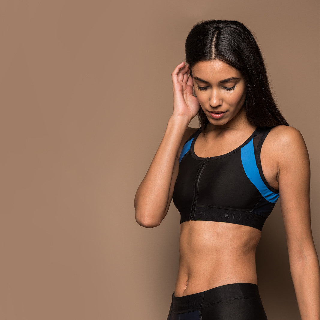 Kith Amato Zip-Up Sports Bra - Navy / Blue