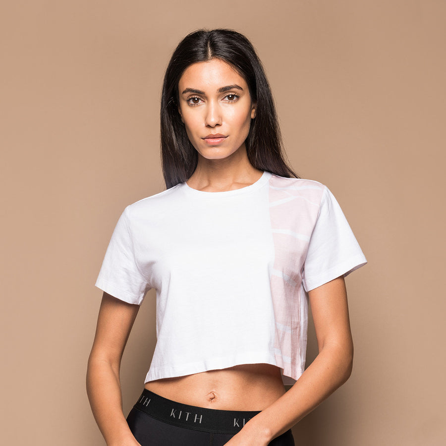 Kith Side Block Tee - White