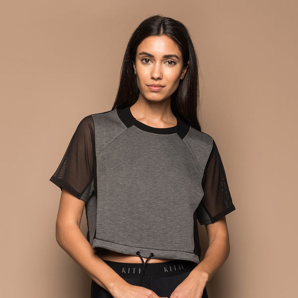 Kith Nixon S/S Mesh Top - Dark Heather Grey