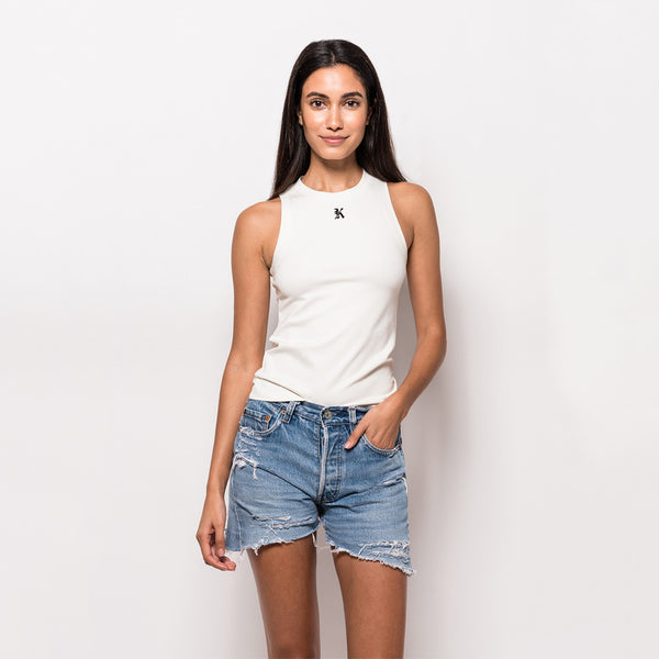 Kith K Fitted Tank Top - Off White