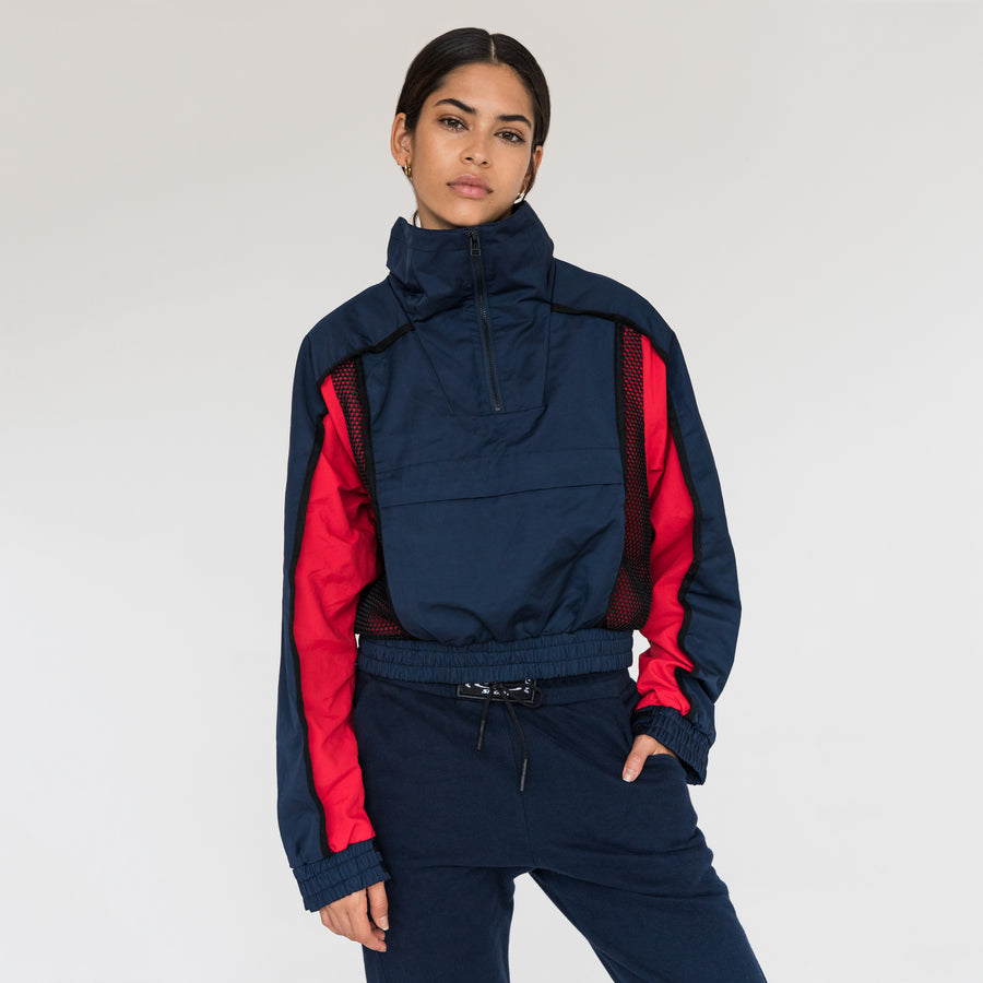 Kith Sport Porter Cropped Windbreaker - Navy