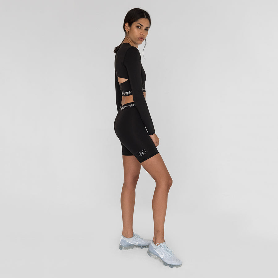 Kith Sport Naomi Long Sleeve Crop Top - Black
