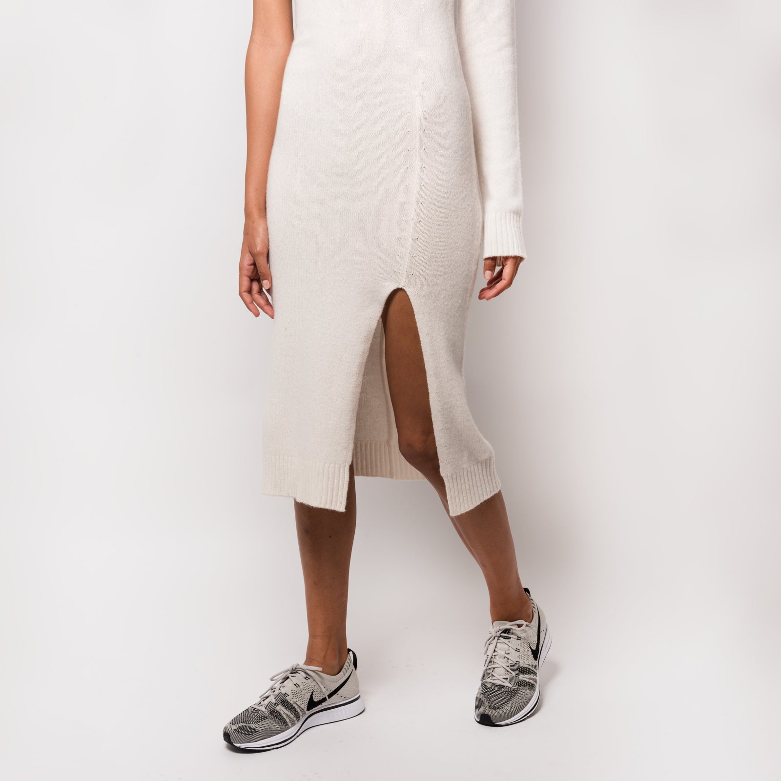 Kith Wylie One Shoulder Sweater Dress - Cream