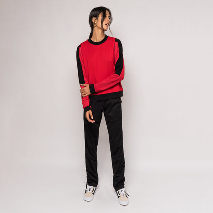 Kith Mica Oversized Crewneck - Varsity Red