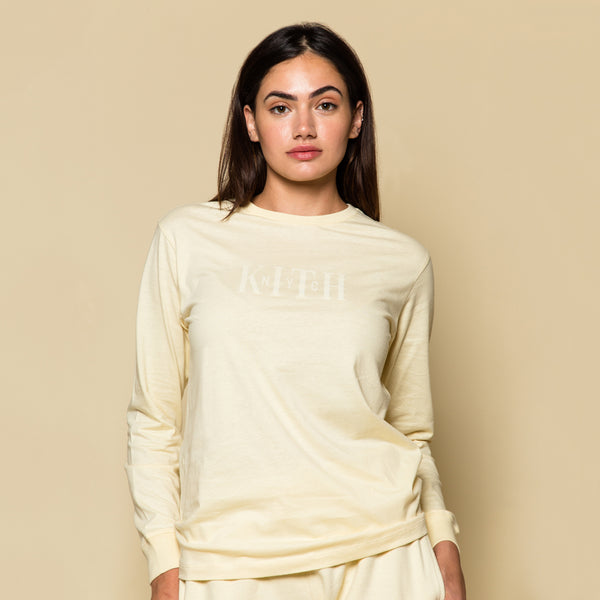 Kith Great Jones Theo L/S Tee - Beige
