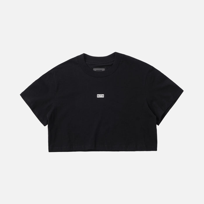 Kith Women Cropped Maddy Mock Neck Tee - Black