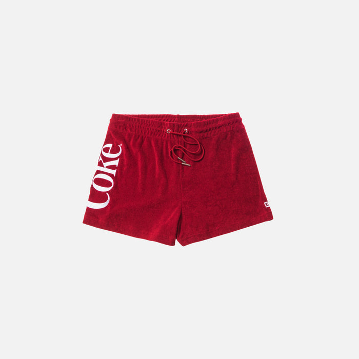 Kith Women x Coca-Cola Terry Short - Red