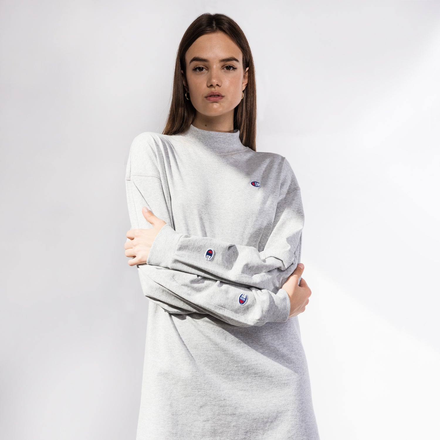 Kith x Champion Molly L/S Dress - Heather Grey