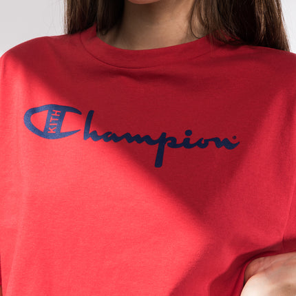 Kith x Champion Alexis Cropped Tee - Red